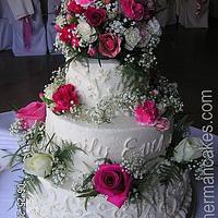 white wedding cake by Edit Herman