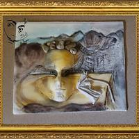 Dali in Sugar..Aparistions of fruit bowl on the sand.