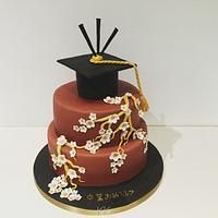 Japanese graduation cake