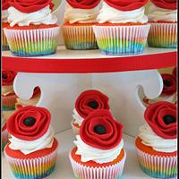 Wizard of Oz/ Rainbow/ Poppy/ Cupcake Tower by Renee Daly