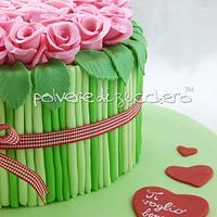 cake bouquet of roses