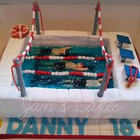 Swimming Gala 18th Birthday cake