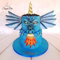 x Dragon-icorn Two-Sided Birthday Cake x