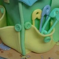 Buttons & Bears Diaper Bag Cake by Cake Creations by Trish