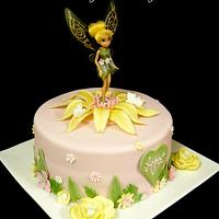 Tinkerbell in Pink and Yellow by Raewyn Read Cake Design