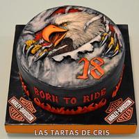 Harley Davidson  motorbike cake