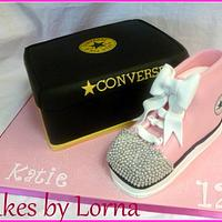 Converse Bling Shoe Cake and Box