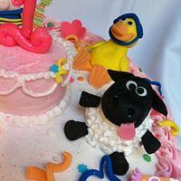 Timmy Time 1st Birthday! by SugarMommas Custom Cakes