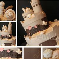 Sweet 16 Sandcastle Cake