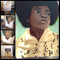 Michael Jackson Food Coloring Painting on Fondant