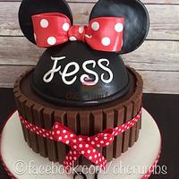 Minnie Mouse chocolate brownie cake