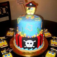 Spongebob/Pirate Cake by YummyTreatsbyYane
