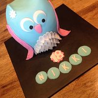 Double Barrel Owl Cake