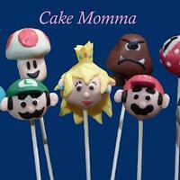 Super Mario Cake Pops!!