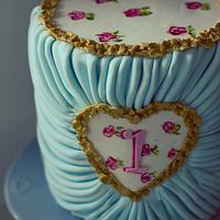 Iyas first birthday cake
