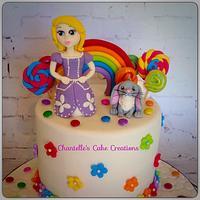 Princess Sofia and rainbows