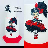Flamenco quilling wafer paper