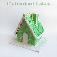 Mint & Blue 3d Gingerbread houses
