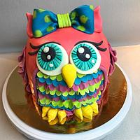 3D cake owl 🦉