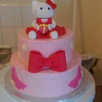 hello kitty vanilla and buttercream cake