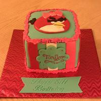 Angry bird girl cake