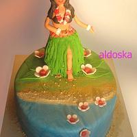 Hula hula cake