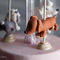 Vintage Puppy Carousel Cake (aka Snoop Doggie Dogg Cake) by Heidi