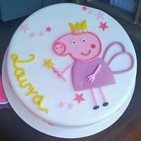 Fairy-Peppa-Pig Cake