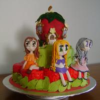 Sweet 16th cake for Sophie, Stephanie and Kelly.