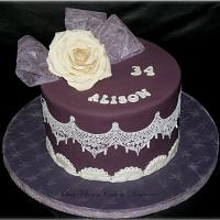 Rose and Lace cake