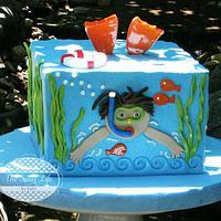 Diver Boy Cake