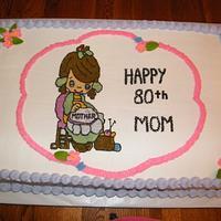 Cross Stitch Birthday Cake