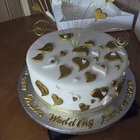 50th Wedding Aniversary Cake