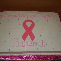 Breast Cancer Support cake by Kim Leatherwood