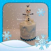Olaf Frozen Theme Cake
