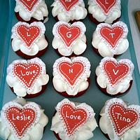 Valentines Day Cupcakes by Bliss Pastry