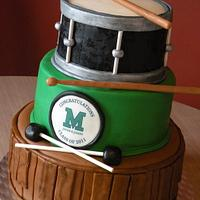 """band"" theme graduation cake"