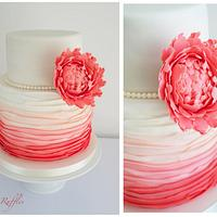Coral and Grey Dessert Table