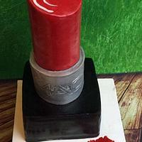 Audrey - MAC lipstick birthday cake