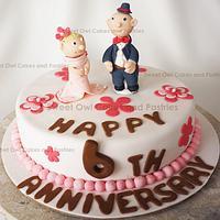 chocolate hazelnut anniversary Cake