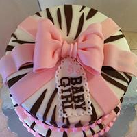 brown/pink baby shower girl by Christie's Custom Creations(CCC)