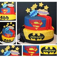 Double Superhero Cake