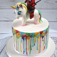Unicorn & Deadpool cake