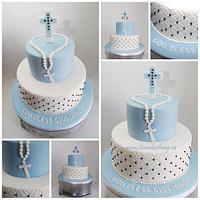 Communion Cake for a Boy