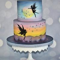 Fairy Fantasy Silhouette cake .