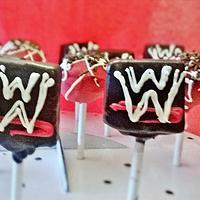 wrestling WWE cake pops