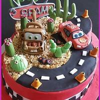 A cake full of Cars