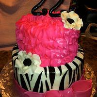 Zebra Ruffle Cake