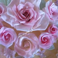 Flower top cake