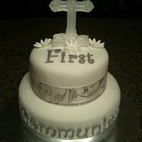 First Communion Cake by Jennifer